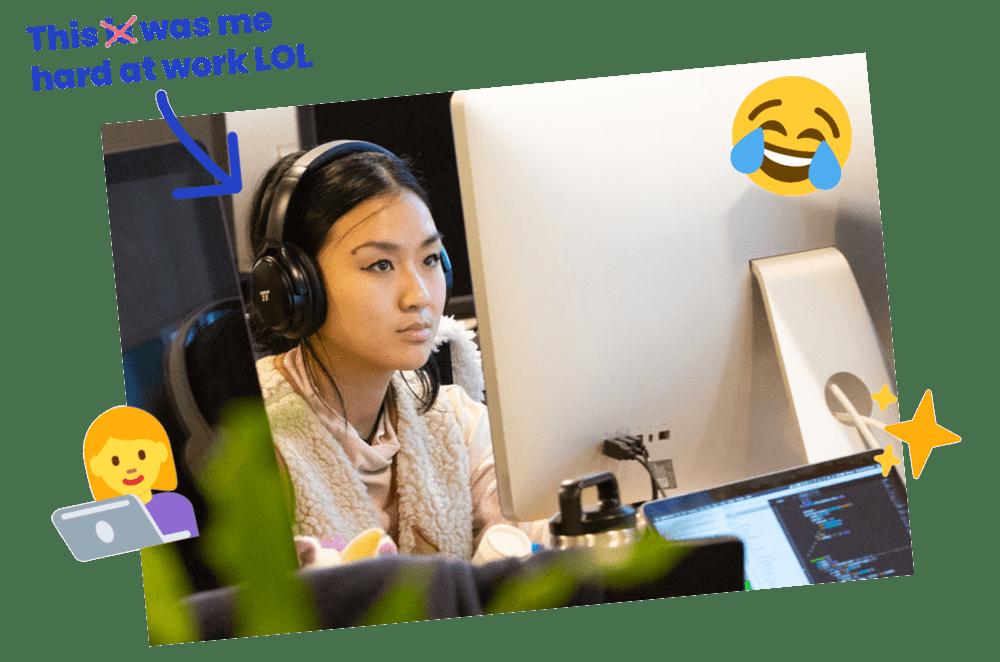 Becky Liu Working Hard