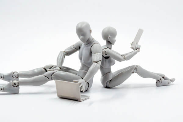 Robots on Laptop and Phone